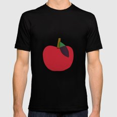 Apple 02 Mens Fitted Tee Black SMALL