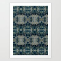 Dark Blue kaleidoscopic Art Print