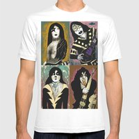 The Great Kiss Mens Fitted Tee White SMALL