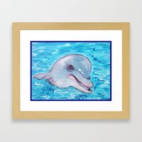 Dolphin 2 Framed Art Print