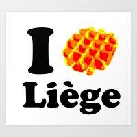 I Gaufre Liege - I Waffl… Art Print