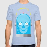 Communicate Mens Fitted Tee Tri-Blue SMALL