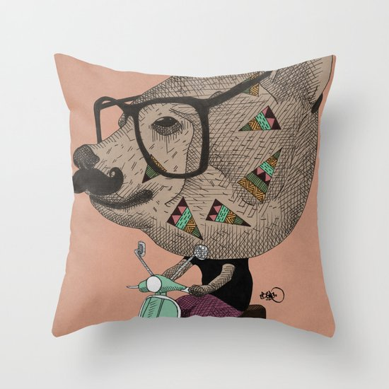 Vesbear Throw Pillow