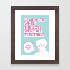 Fluorescent Adolescent Framed Art Print
