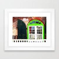 Green Window in Apalach Framed Art Print