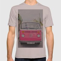 Hot Pink Lady Mens Fitted Tee Cinder SMALL