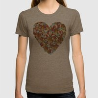 Breakfast Womens Fitted Tee Tri-Coffee SMALL