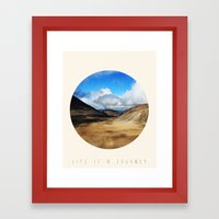 Life Is A Journey (Colour)  Framed Art Print
