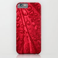 iPhone Cases featuring red passion I by blackpool