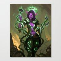 Elf Warlock, Level 3 Canvas Print