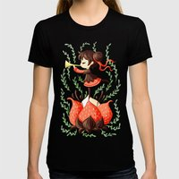 Spring Melody Womens Fitted Tee Black SMALL