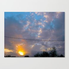 Sunset from my house 3 Canvas Print