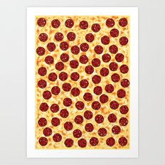 Pepperoni Pizza Pattern Art Print