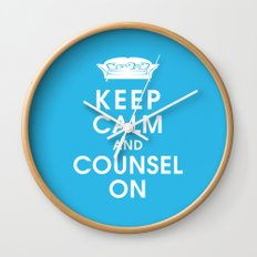 Keep Calm and Counsel On Wall Clock