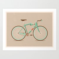 bicycle Art Prints featuring Bicycle by Daniel Mackey