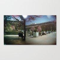 Canvas Print featuring Jardin du Palais Royal, Paris by istillshootfilm