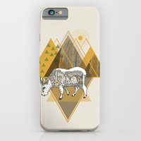 iPhone & iPod Case featuring Mountain Goat by Clare Corfield Carr