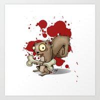 Le Wild Squirrel Art Print