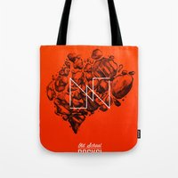 Old School Rocks (Orange… Tote Bag