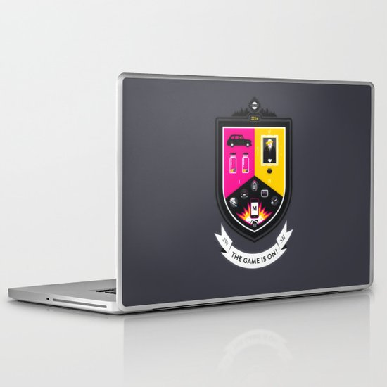 The Game is On! - grey version Laptop & iPad Skin