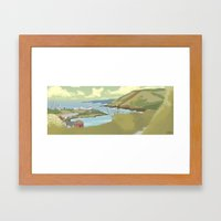Roches Point Speedpainting Framed Art Print