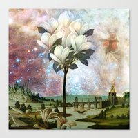 The Angel And The Magnol… Canvas Print