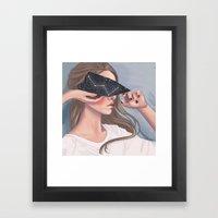 Inside Her Reflection... Framed Art Print