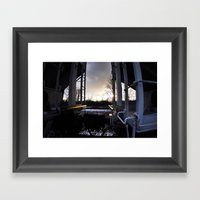 Train Hop Framed Art Print