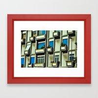 City Balconies Framed Art Print