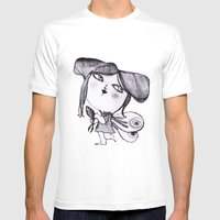 butter fly Mens Fitted Tee White SMALL