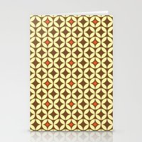 Repeated Retro - brown Stationery Cards