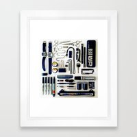 Junk Drawer: Monochrome Framed Art Print