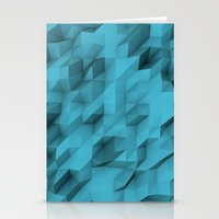 low poly texture Stationery Cards