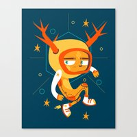 Space Deer Canvas Print