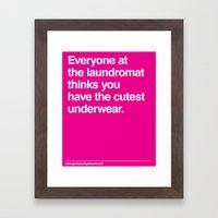 Cutest Underwear Framed Art Print