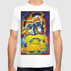 Metal Man Mens Fitted Tee White SMALL