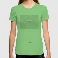Erosion & Typography 1 Womens Fitted Tee Grass SMALL