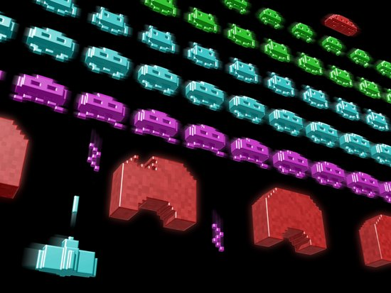 Inside Space Invaders Art Print