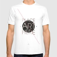 The Art Placeholder Mens Fitted Tee White SMALL