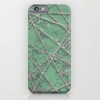 Sparkle Net Mint iPhone 6 Slim Case