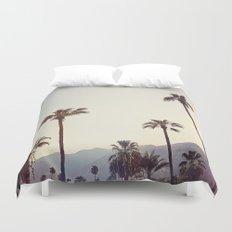 Palm Trees in the Desert Duvet Cover