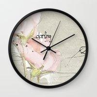 soft magnolia Wall Clock