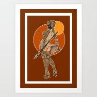 Star Wars tusken pinup Art Print
