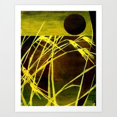 Lazing In The Corn Art Print