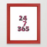 24-7/365 (Lipstick) Framed Art Print
