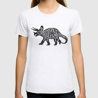 Triceratops or Tricerabottom? Womens Fitted Tee Ash Grey SMALL