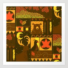 Fall Square Art Print