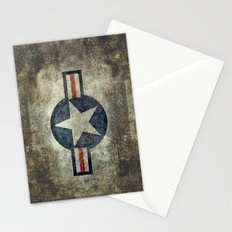 Roundel of the USAF vintage retro style version #2 Stationery Cards