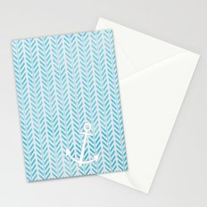 Anchor in Blue Stationery Cards