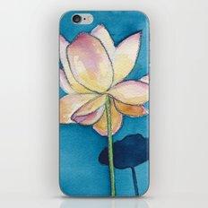 Lotus on Blue iPhone & iPod Skin